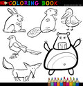 Animals for Coloring Book or Page Stock Images