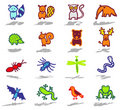 Animals icons set 4 Stock Photography