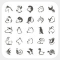 Animals icons set Royalty Free Stock Photo