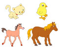 Animals misc vector illustration of isolated on white background Stock Photography
