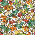 Animals and Objects Seamless Pattern Royalty Free Stock Photography