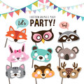 Animals party masks Royalty Free Stock Photo