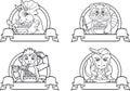 Animals set of logos