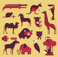 Animals set vector this is file of eps format Stock Photos