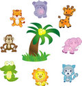 Animals vector icons set Stock Photos