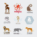 Animals vector logos Royalty Free Stock Photo