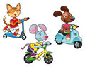 Animals on vehicles. Royalty Free Stock Photos