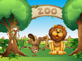 Animals in the zoo illustration of Royalty Free Stock Photo