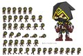Animated Assassin Character Sprites Royalty Free Stock Photo