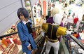 Animated characters people dressed in costumes in a mall in the city of solo central java indonesia Stock Images