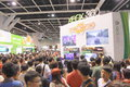 Animation comics games expo hong kong acghk is the most popular summer carnival in it is packed with the toys limited edition Royalty Free Stock Photo