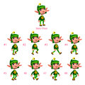 Animation of dwarf walking eight frames static pose vector cartoon isolated character frames Royalty Free Stock Images