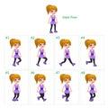 Animation of girl walking.