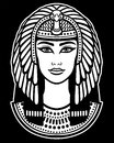 Animation portrait of the beautiful Egyptian woman.