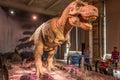 Animatronic dinosaur display at the, Natural History Museum, London
