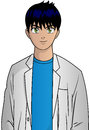 Anime doctor vector illustration of character Stock Image