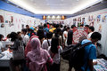 Anime festival asia indonesia jakarta th september fans and enthusiasts crowding several stands in event at Royalty Free Stock Photo