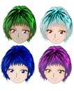 Anime girls Royalty Free Stock Photos