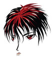 Anime vampire face cartoon with red eyes in manga style Royalty Free Stock Photos