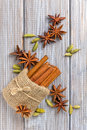 Anise, cinnamon and cardamom Royalty Free Stock Images