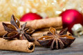 Anise and cinnamon decoration with Royalty Free Stock Image