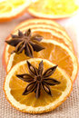 Anise And Dried Orange Slices Royalty Free Stock Image