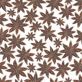 Anise star spices seamless pattern