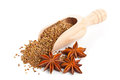 Aniseed and star anise Royalty Free Stock Photo