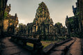 Ankor the lost city banteay samre of relic in autumn days Stock Images