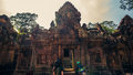 Ankor the lost city banteay srei of relic in autumn days Royalty Free Stock Images