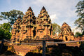 Ankor the lost city banteay srei of relic in autumn days Royalty Free Stock Photos