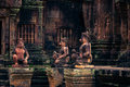 Ankor the lost city banteay srei of relic in autumn days Stock Photo