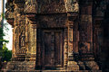 Ankor the lost city banteay srei of relic in autumn days Stock Photos