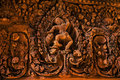 Ankor the lost city banteay srei of relic in autumn days Stock Images