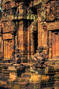 Ankor the lost city banteay srei of relic in autumn days Royalty Free Stock Image