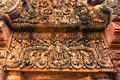 Ankor the lost city banteay srei of relic in autumn days i have more of them and more beautiful Stock Photography