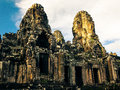 Ankor the lost city bayon of relic in autumn days Stock Image