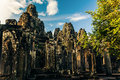 Ankor the lost city bayon of relic in autumn days Stock Images