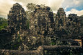 Ankor the lost city bayon of relic in autumn days Royalty Free Stock Images