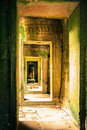 Ankor the lost city a gallery of bayon of relic in autumn days Stock Image