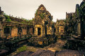 Ankor the lost city sunset of banteay samre of relic in autumn days Stock Photos