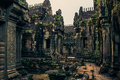 Ankor the lost city sunset of banteay samre of relic in autumn days Stock Photo