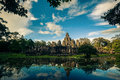 Ankor the lost city sunset of bayon of relic in autumn days i have more of them and more beautiful Royalty Free Stock Photo