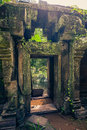 Ankor the lost city thom relic in autumn days Royalty Free Stock Photos