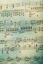 Anmärkning för bakgrundsmusik Arkivbilder