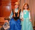 Anna and kids - Disney movie Frozen - Magic Kingdom studio