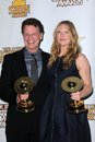 Anna torv john noble at the th annual saturn awards press room castaway burbank ca Royalty Free Stock Photography