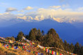 Annapurna and Himalaya mountain in sunrise, Poonhill, Nepal Royalty Free Stock Photo