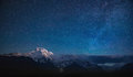 Annapurna I under the stars Royalty Free Stock Photo