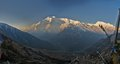 Annapurna ii m ft mountain in the himalaya range Stock Photos